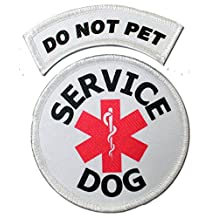 Three Inch Service Dog Patch Combo