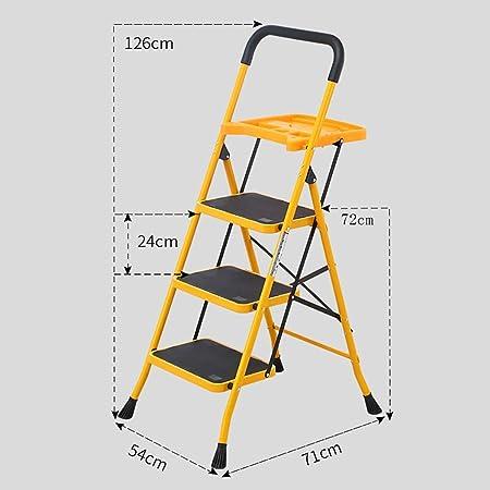 GWXSST Escalera Telescópica Escalera Plegable multifunción Escalera de Escalera de 3/4 Escalera de barandilla para el hogar Escalera de Espiga Engrosamiento Escalera de ingeniería portátil: Amazon.es: Hogar