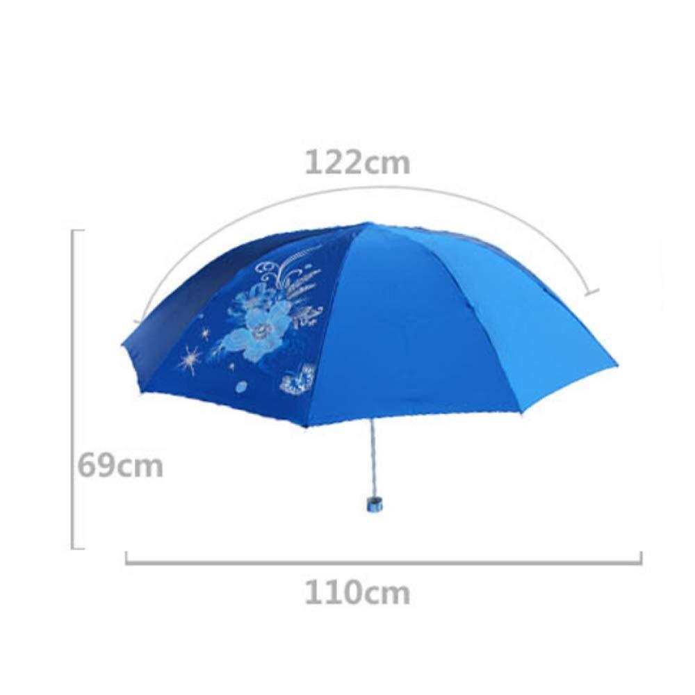 Windproof UV Protection Big Straight Umbrella Wuzhongdian Sun Umbrella,Foldable,Sunscreen Coating Color : Lavender