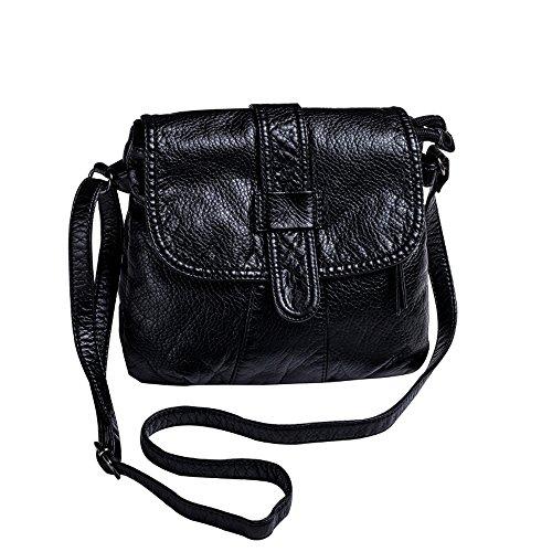 Zq Women's Casual Messenger Bag Shoulder Bag Female Oblique Floor Single Bag Korean Version Of Soft Leather Bag Mini Bag Small Backpack Wild