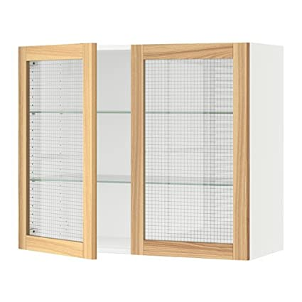IKEA – Armario de pared con 2 puertas de cristal, Blanco, torhamn Fresno 36