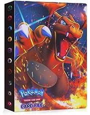 JOYUE Pokemon Kaartenhouder Album, Pokemon Binder voor Kaarten, Kaarten Album Book, Pokemon Card Protector Sleeves, Pokemon Cards GX en EX Album, Trading Cards Album, 30 pagina's Hold 240 Kaarten (Charizard)