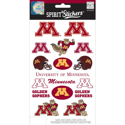 me & my BIG ideas Officially Licensed NCAA Spirit Stickers, Minnesota