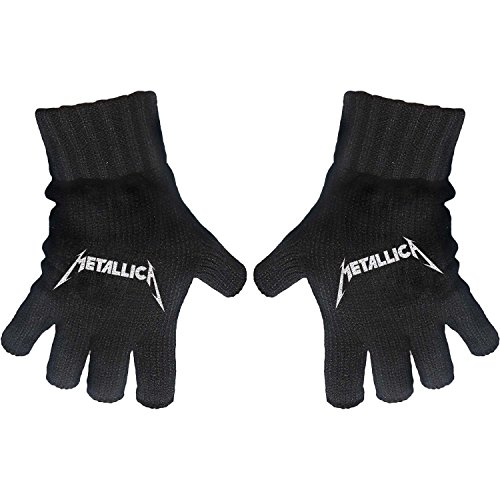 [해외]Metallica Logo 니트 장갑 블랙/Metallica Logo Knit Gloves Black