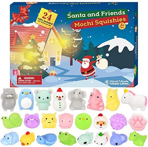 [해외]BATTOP Advent Calendar 2019 Christmas Countdown Calendar Toy 24Pcs Different Cute Mochi Animals Squishy Toys for Kids / BATTOP Advent Calendar 2019 Christmas Countdown Calendar Toy 24Pcs Different Cute Mochi Animals Squishy Toys fo...