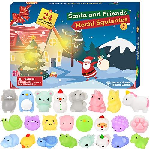 Anime Halloween 2019 (BATTOP Advent Calendar 2019 Christmas Countdown Calendar Toy 24Pcs Different Cute Mochi Animals Squishy Toys for)
