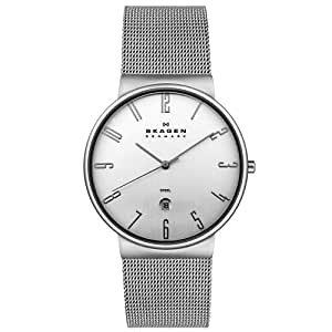 Skagen Men's 355XLSS Steel Collection Mesh Stainless Steel Silver Dial Watch