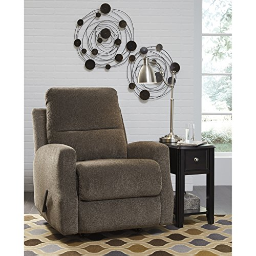 Flash Furniture Signature Design by Ashley Fambro Rocker Recliner in Taupe Chenille (Taupe Rocker Recliner)
