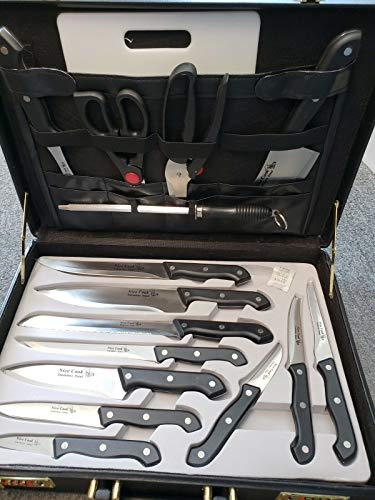 Honeybeloved 16 PIECE CUTLERY SET In a Briefcase Nice Cook Stainless Steel Color Biege & Accessories Chef's Knives Chef's Knives New