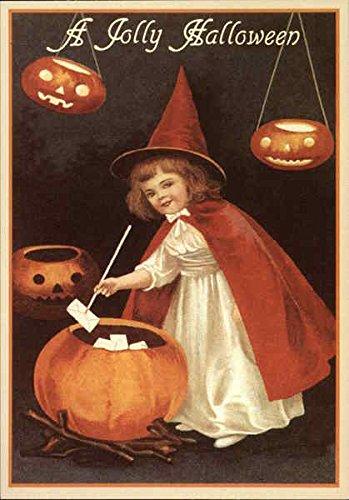 A Jolly Halloween Reproduction Original Vintage Postcard ()