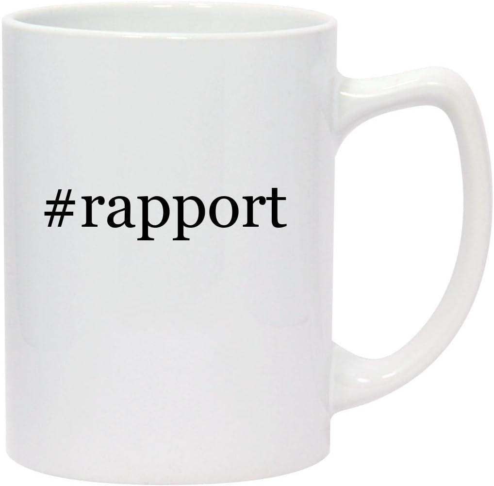 #rapport - 14oz Hashtag White Ceramic Statesman Coffee Mug