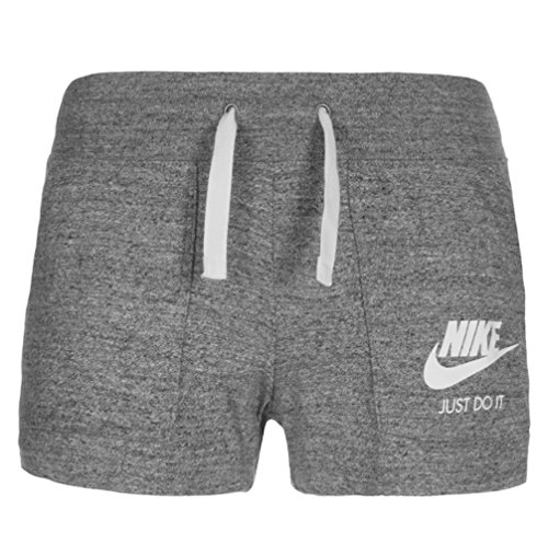 Women's Nike Sportswear Gym Vintage Short Carbon Heather/Sail Size Large