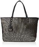 Love Moschino Borsa Intreccio Pu, Women's Top-Handle Bag, Black (Nero), 18x34x60 cm (W x H L)