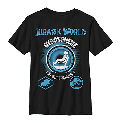 Fifth Sun Jurassic World Boys' Roll with Triceratops Black T-Shirt