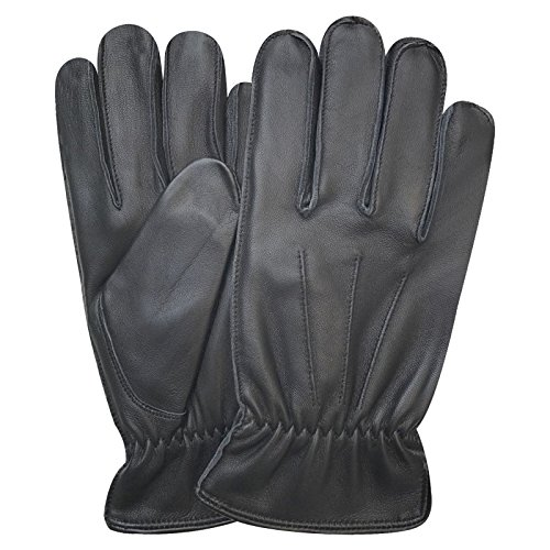 Prime Top Quality Men's Winter Fashion Dress Gloves Lambskin Vintage Design 9060 (Black, -