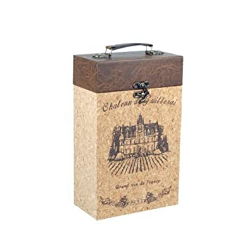 "Caja Decorativa para Botellas de Vino""France"". Botelleros. Cajas Multiusos. Menaje"