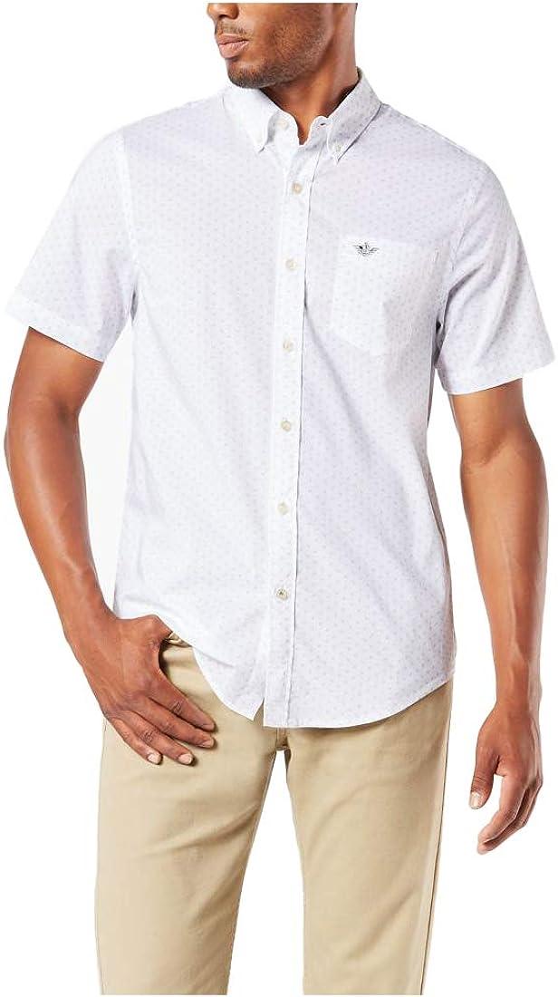 dockers Short Sleeve Button Down Comfort Flex Shirt Camisa con Cuello Abotonado para Hombre: Amazon.es: Ropa y accesorios