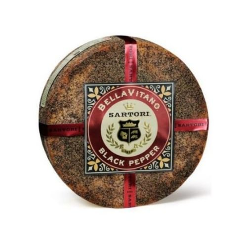Sartori Reserve Black Pepper BellaVitano Cheese Wheel, 20 Pound -- 1 each. by Sartori