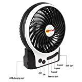 BENGOO Fan Portable USB Fan Mini Desktop Desk Table Electric Rechargeable Fan for laptop room office outdoor travel