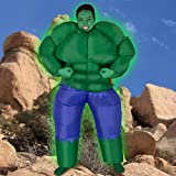 Inflatable Green Muscle Man Costume