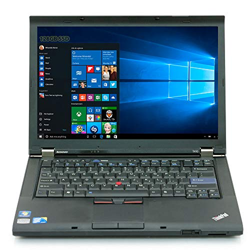 (Lenovo ThinkPad T410 Laptop - Core i5 2.26ghz - 8GB DDR3 - 128GB SSD HDD - DVD-ROM - Windows 10 64bit - (Renewedd))
