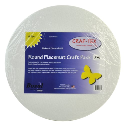 (BELAGIO Enterprises Craf-Tex Double Sided Fusible Round Placemats)