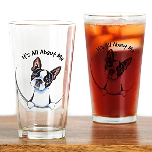 CafePress Boston Terrier Drinking Glass