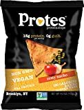 Protes Protein Chips - Zesty Nacho - High Protein, Low Carb, Vegan, Gluten-Free, 4 oz. Bag (Pack of 4)