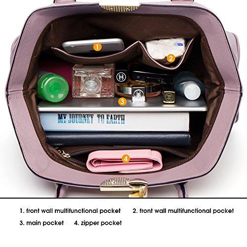 Rosa Sacchetta Pelle Bowling Handle a BOSTANTEN Borsa Manico Tote Spalla Top Bag Vera Donna UOWUqZIp