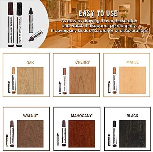 Kit de reparación de muebles Marcadores de madera y varas de cera con afilador,para manchas,rasguños,pisos de madera,escritorios,carpinteros,postes de ...