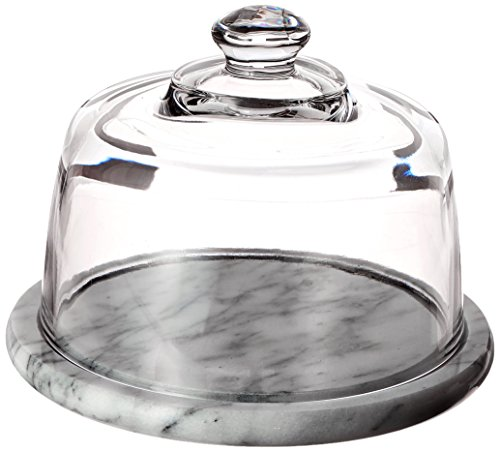 Norpro Marble - Norpro Glass Cheese Dome with Marble Base