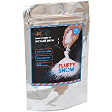 Yucky Science Fluffy Snow Powder. Make 2 Litres of Instant Snow. Just Add Water to Make artificial snow that feels like real. Great for Christmas decorations