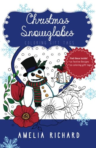 Adult Coloring Book - Christmas Snowglobes: Coloring Gift Tags