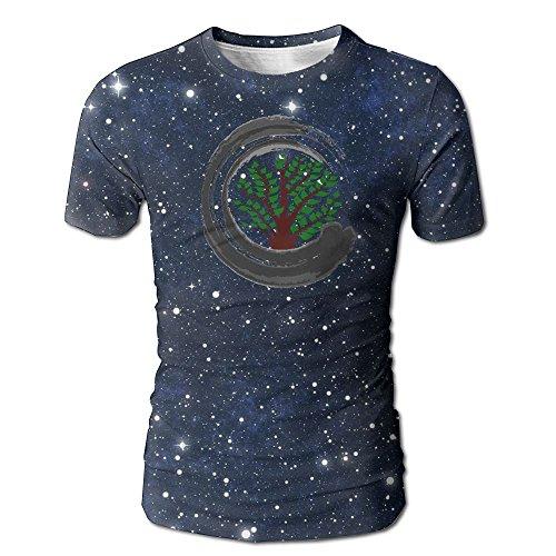 Supersellerforu Bonsai Tree ZEN Latest Gentleman Short Sleeve Tee Shirt Summer Clothes Tops For - Oaks Shopping River