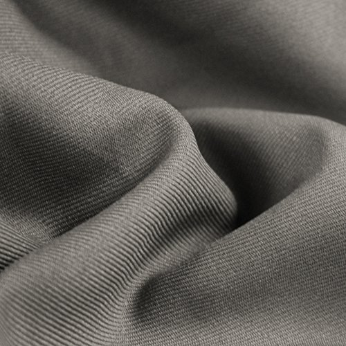 Light Grey Solid 60'' Poly Gabardine Fabric by the for sale  Delivered anywhere in USA