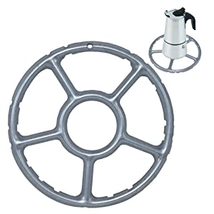 ToSSme Multi-Function Gas Ring Reducer Trivets Stove Top Hob Cooker Heat Simmer Coffee Pots 5-Inch Alloy