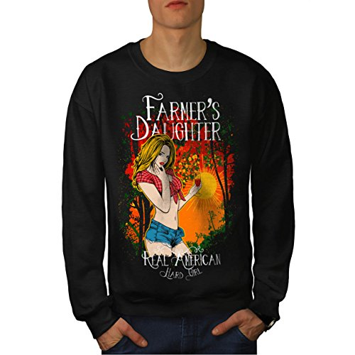 Farmer Daughter Cute Hard Girl Men NEW M Sweatshirt | Wellcoda (Daisy Duke Fancy Dress)