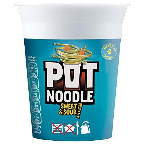 Pot Noodle Sweet & Sour Flavour - 90g - Pack of 4 (90g x ()