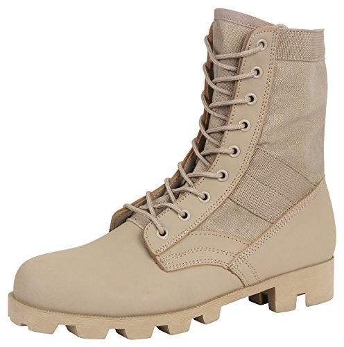 Rothco Classic Military Jungle Boots, Desert Tan, - Military Desert Boots Combat
