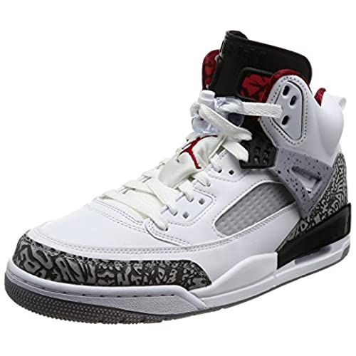 low priced 66df0 00b92 chic Nike Jordan Men s Jordan Spizike White Varsity Red Cement Grey  Basketball Shoe 9.5 Men