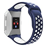 Wearlizer Sport Band Compatible Fitbit Ionic Bands Women Men,Silicone Breathable Band Replacement Accessories Strap Bracelet Compatible Fitbit Ionic Smartwatch