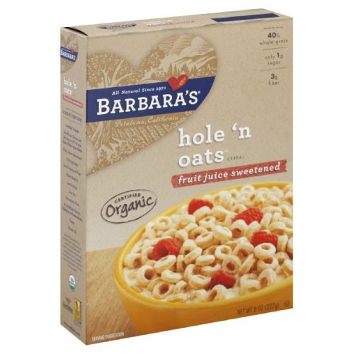 Barbara's Bakery Hole 'n Oats, Fruit Juice Sweetened Cereal, 8.0-Ounce Box (Pack of 6)