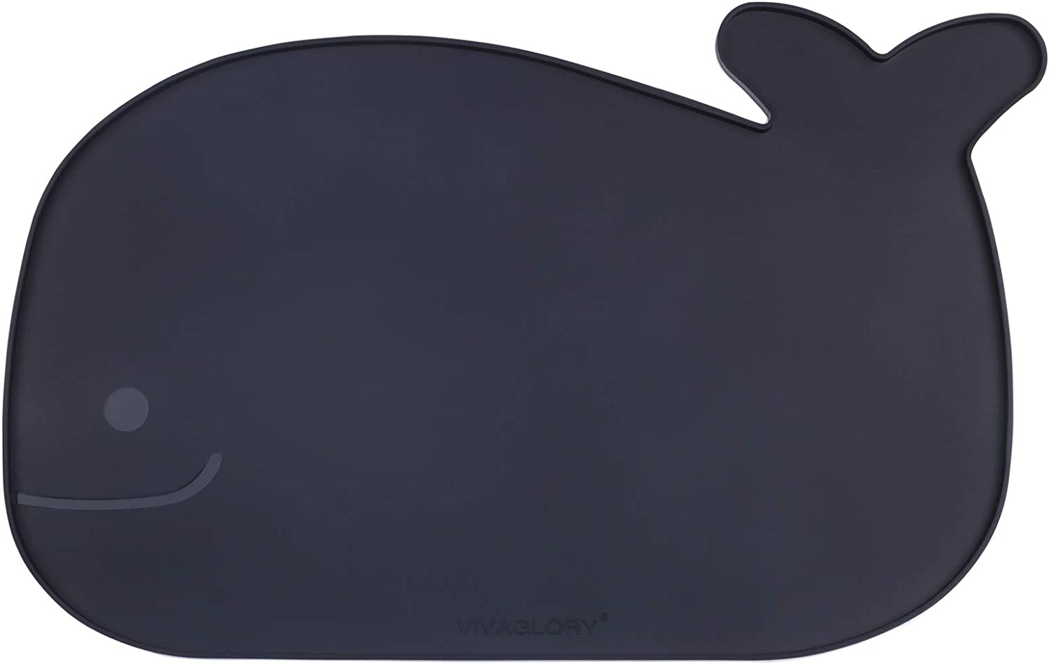 Vivaglory Cat Bowl Mat, Waterproof Silicone Feeding Mat Placemat with Raised Edge for Cat Puppy Dog, Small (18.9