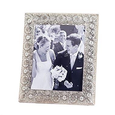 Silver Medallion 8x10 Photo Frame