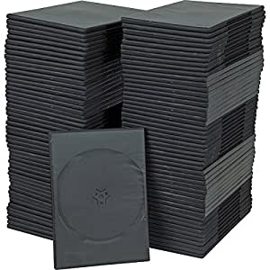 Vact 7mm 100-pack Single Slim DVD movie cases by Vact