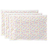 "Bentology - Reuseable Ice Pack for Lunch Boxes (3 Pack) - (6"" x 4.5"") (Polka Dots)"