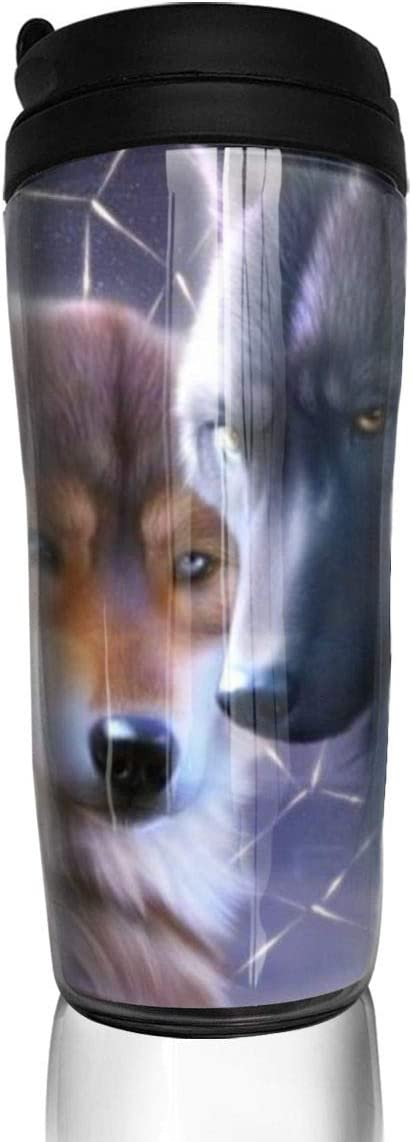 Catcher Wolf Valentines Mothers Day Gift For Mom Aunt,Travel Mug Tumbler With Lids Thermos Coffee Cup Vacuum Insulated Flask Stainless Steel Hydro Water Bottle 13 Oz