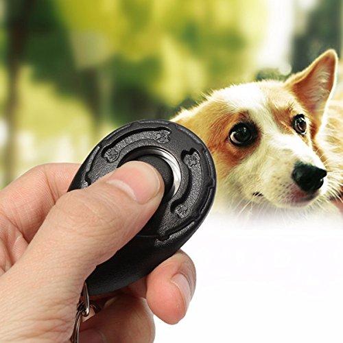 Dog Training Tools Click Clicker - Black Pet Dog Puppy Click Clicker Training Trainer Obedience Aid Teaching Tool by DOM - Dog Training Tools Click Clicker