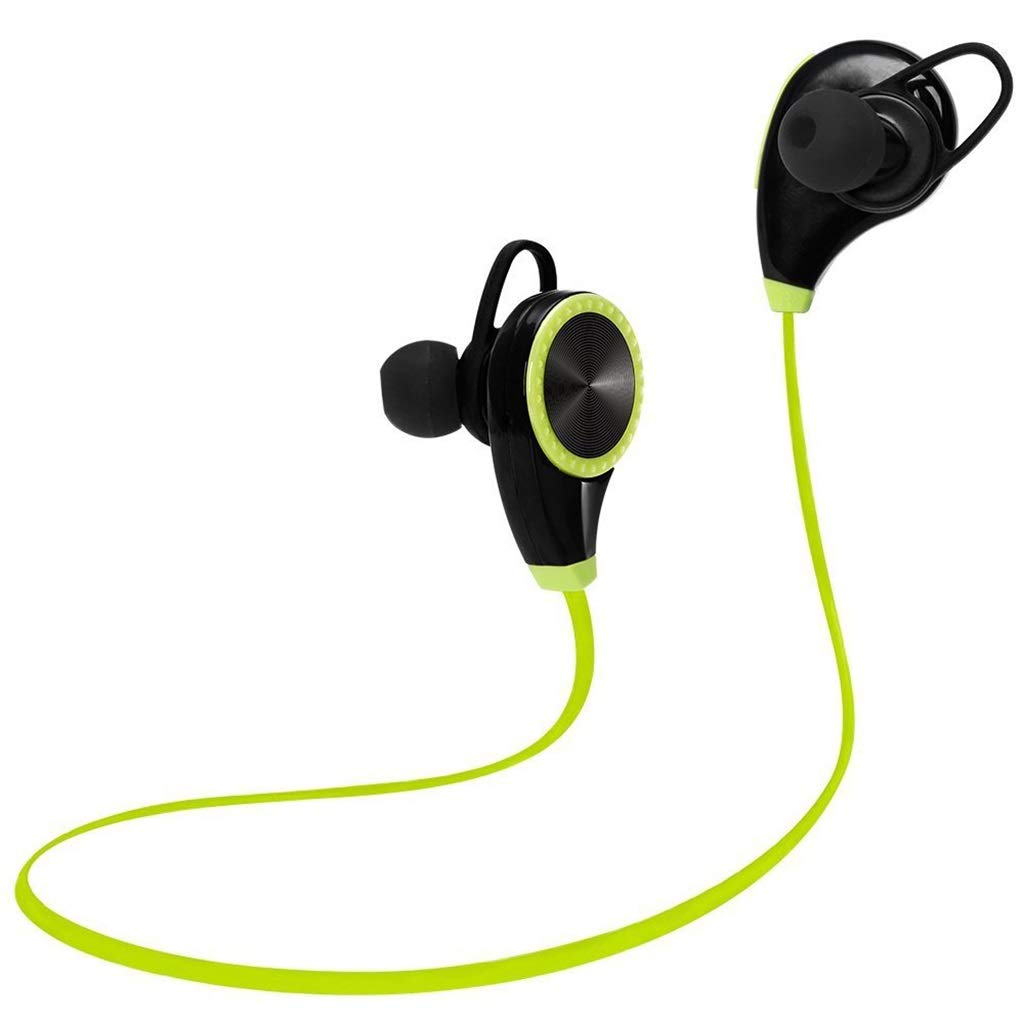 AJAHBGSMXD Sports Bluetooth Headset, Rq8 Csr Bluetooth 4.0 Stereo One for Two, Noise Reduction, Fit Silicon Earplugs, Lightweight and Fast Pairing