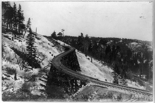 Infinite Photographs Photo: Famous S Bridge,Trestles,Railroads,Alamogordo,Cloudcroft,New Mexico,NM,1900 ()